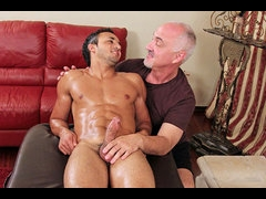Hot gay fucking after massage