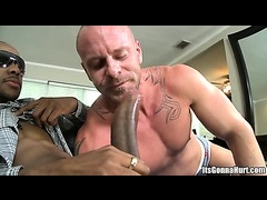 White dude get monster black dick