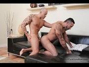 Two gay bear muscle men