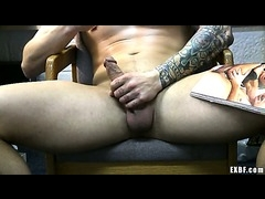 Hot muscular stud caught jacking off by his EX-BF
