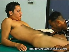 Mixed raced sex on the pool table
