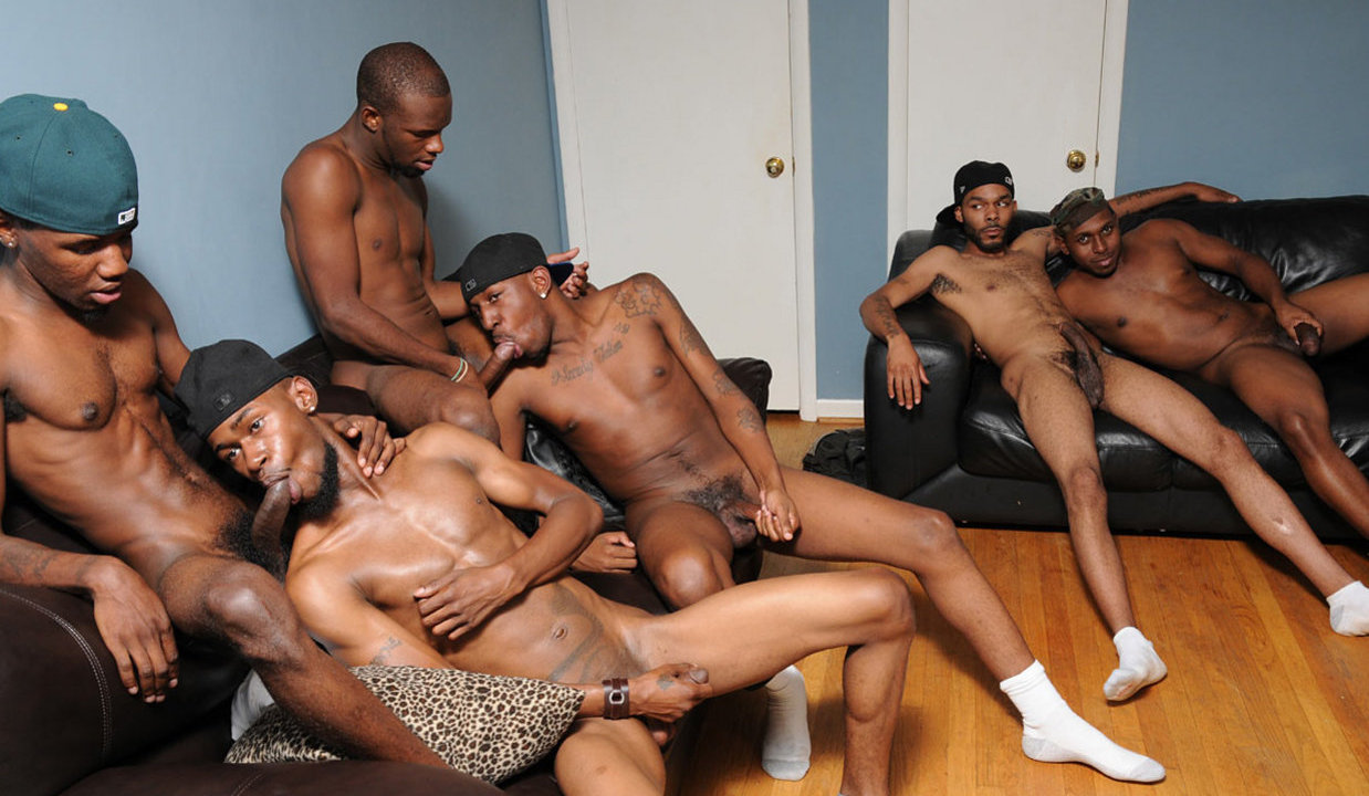 Black gay men orgy