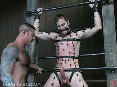 The dungeon is used again in this brutal sex tape