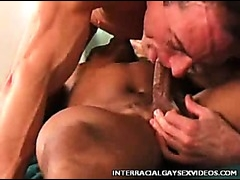 Hot black stud sucked off and fucked hard