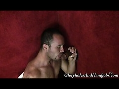 Hot Latin stud visits to glory holes for the first time