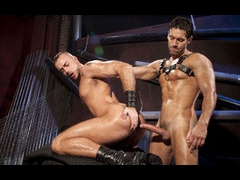 2 hot lovers playing master and servant