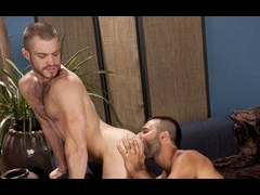 Trent with a hot bearded dude sucking and fuck