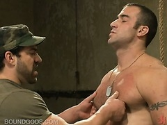 Two hot studs experimenting with hard-core gay sex