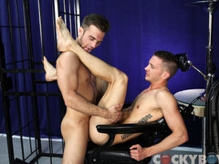 Two college frat boys are all about getting fuck hard