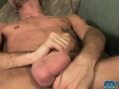 A hot amateur with a really big dick jerking off