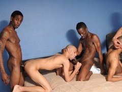Sex starved black thugs in a gay hard-core orgy