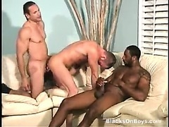 A hot gay couple to do a black dude