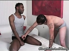 Ricky and Lawrence exchange erotic hand jobs