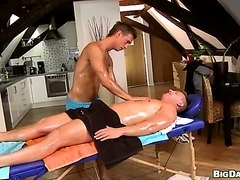 A horny college jock searches craigslist for a massage therapist.