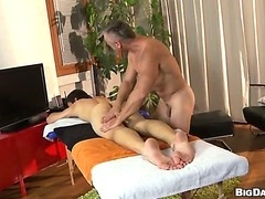 A young college frat boy gets a happy ending during a massage.