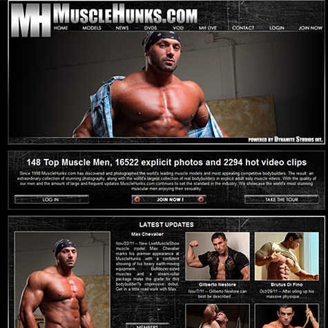 Click to enlarge Muscle Hunks screenshot